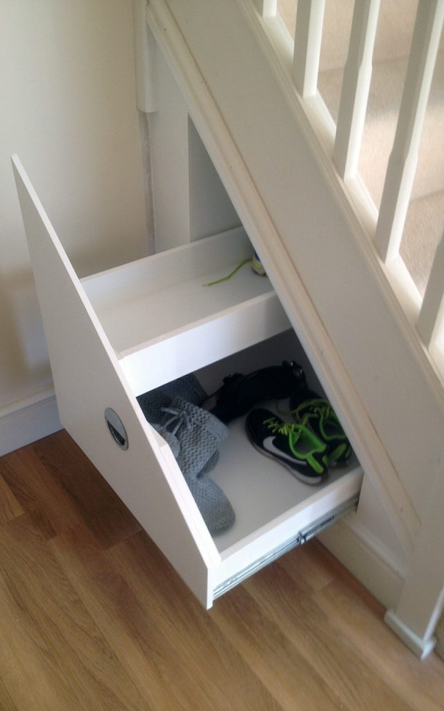 Understairs storage staircase fitting essex for Understairs storage